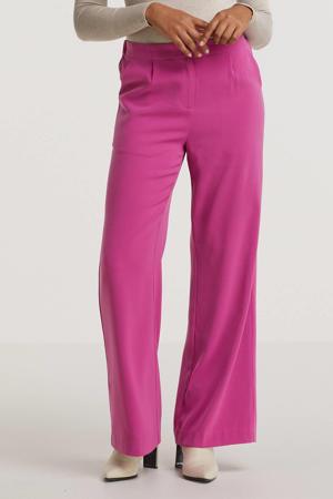 high waist wide leg pantalon Pants Solange purple