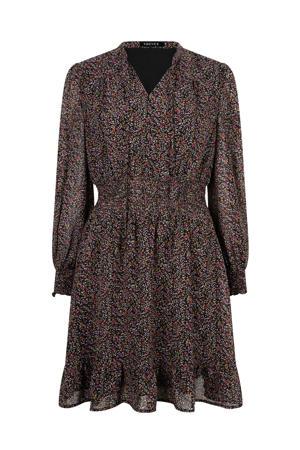 gebloemde jurk Dress Judy zwart