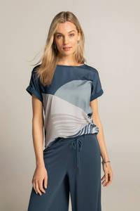 Expresso top donkerblauw/lichtblauw/wit, Donkerblauw/lichtblauw/wit