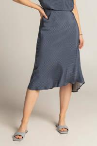 Expresso midi rok met all over print en plooien blauw/donkerblauw/lichtblauw, Blauw/donkerblauw/lichtblauw