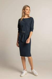 Expresso jurk met all over print en ceintuur donkerblauw/zwart, Donkerblauw/zwart