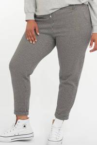MS Mode geruite loose fit broek multi zwart-wit, Multi zwart-wit
