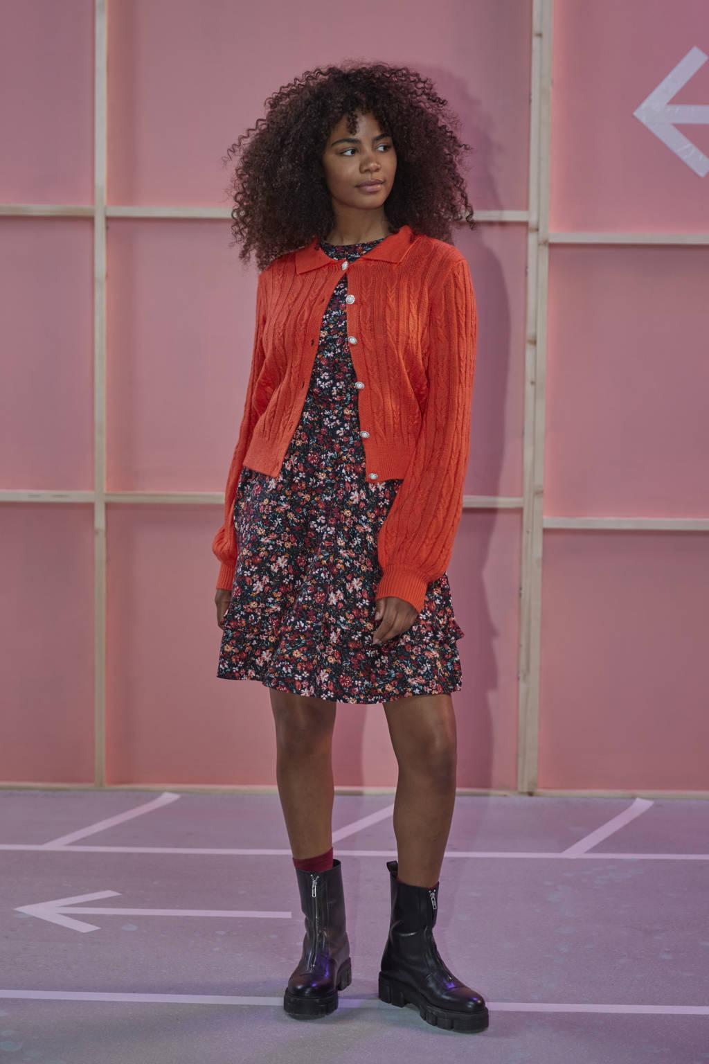 Ydence kabelvest Knitted top Colette orange, Orange