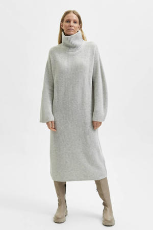 gemêleerde jurk SLFELINA lichtgrijs