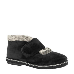 hoge pantoffels zwart