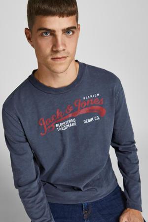 longsleeve JPRBLUWASH met logo navy blazer