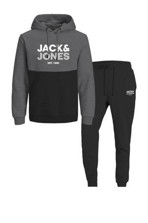 hoodie + joggingbroek JJMILLER Dark Grey Melange