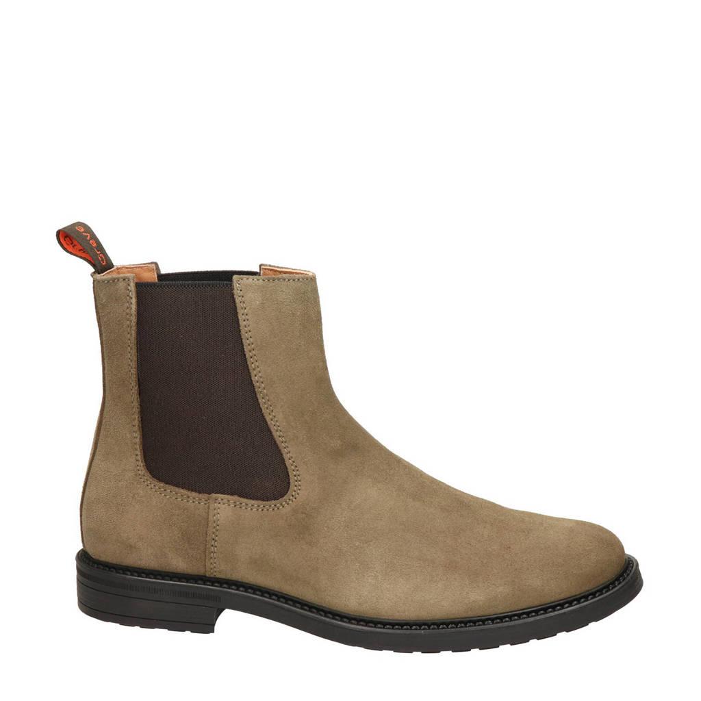 Greve Barbour  suède chelsea boots beige, Beige
