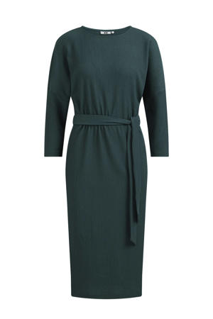 jurk met ceintuur donkergroen