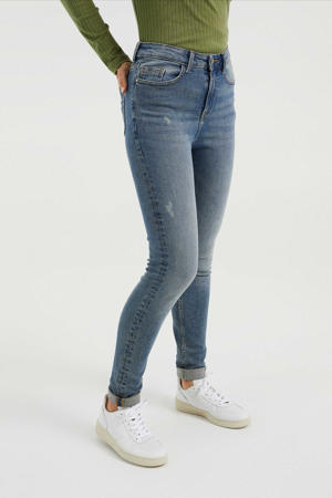 high waist skinny jeans vintage blue