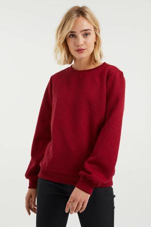 sweater met plooien carmine