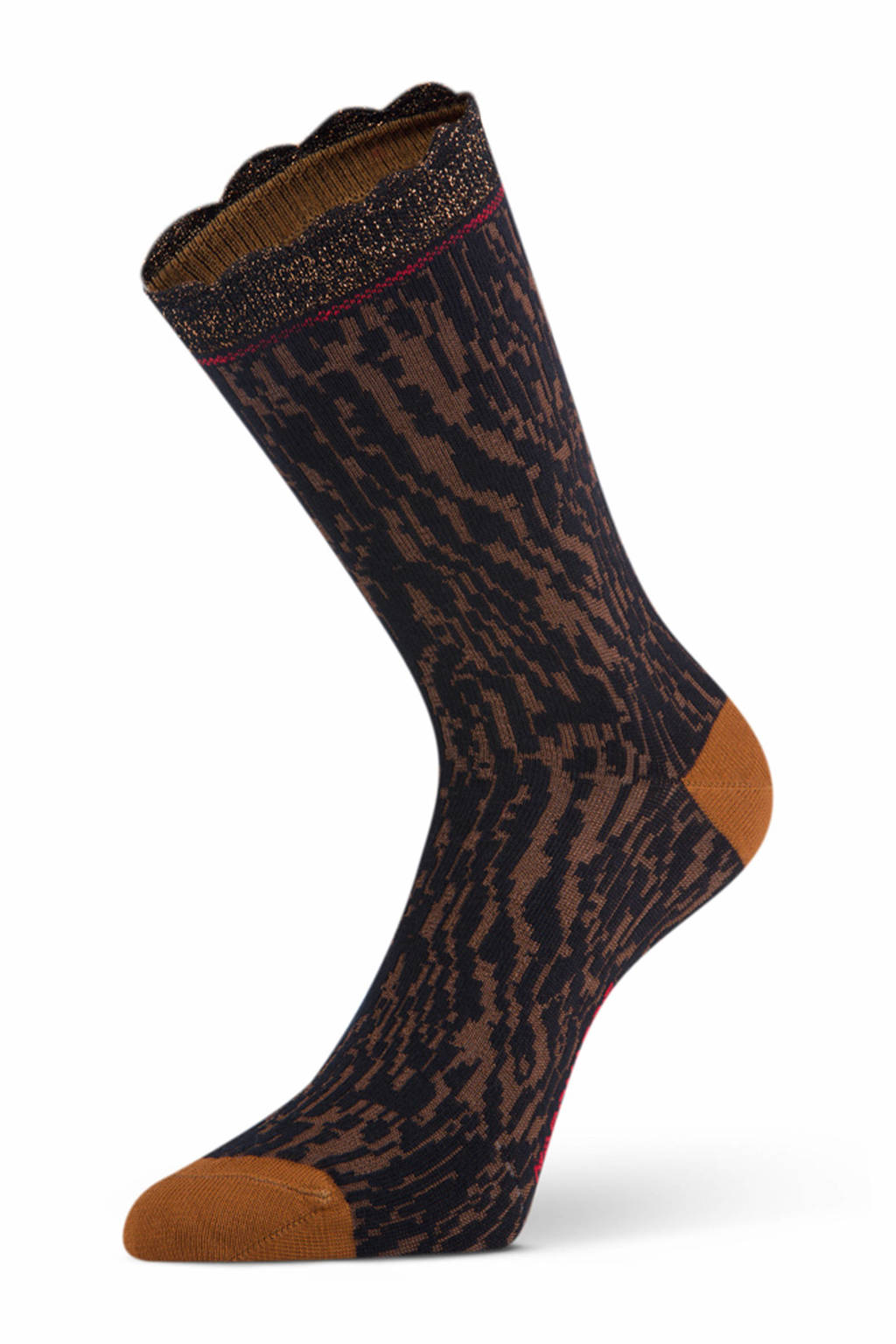 Marcmarcs sokken Nicola donkerbruin, Donkerbruin