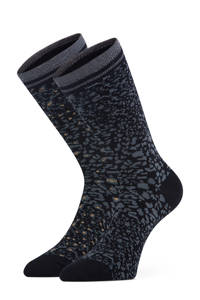 Marcmarcs sokken Lidia - set van 2 zwart/grijs, Zwart/grijs