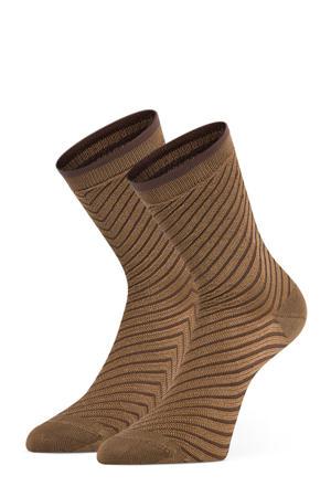 sokken Amber - set van 2 bruin