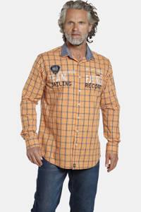 Jan Vanderstorm geruit oversized overhemd SIMEN Plus Size geel/donkerblauw, Geel/donkerblauw