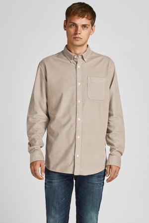 corduroy slim fit overhemd JPRBLUATLAS CORD  crockery