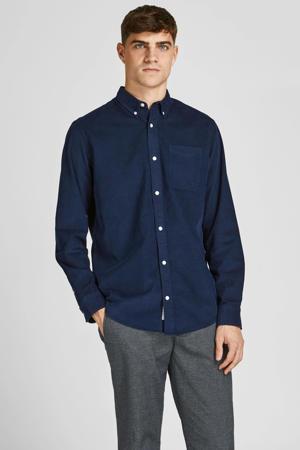 corduroy slim fit overhemd JPRBLUATLAS  navy blazer