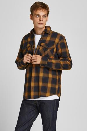 geruit comfort fit overshirt JPRRDDROYAL Sudan Brown