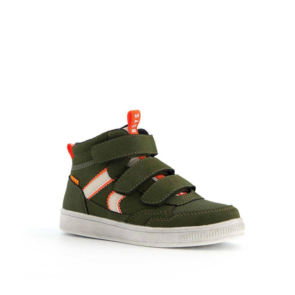 Scapino Blue Box   hoge sneakers groen, Groen/oranje