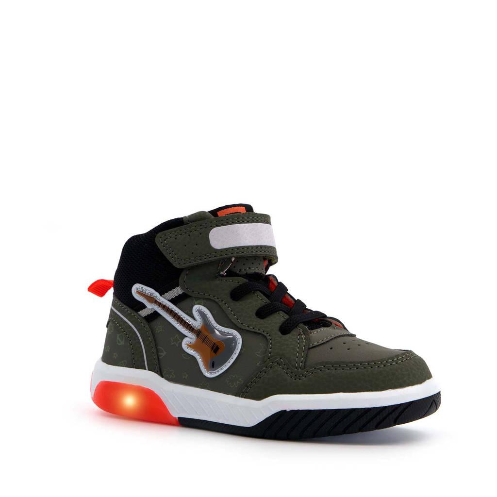 Scapino Blue Box   hoge sneakers met lichtjes groen, Groen