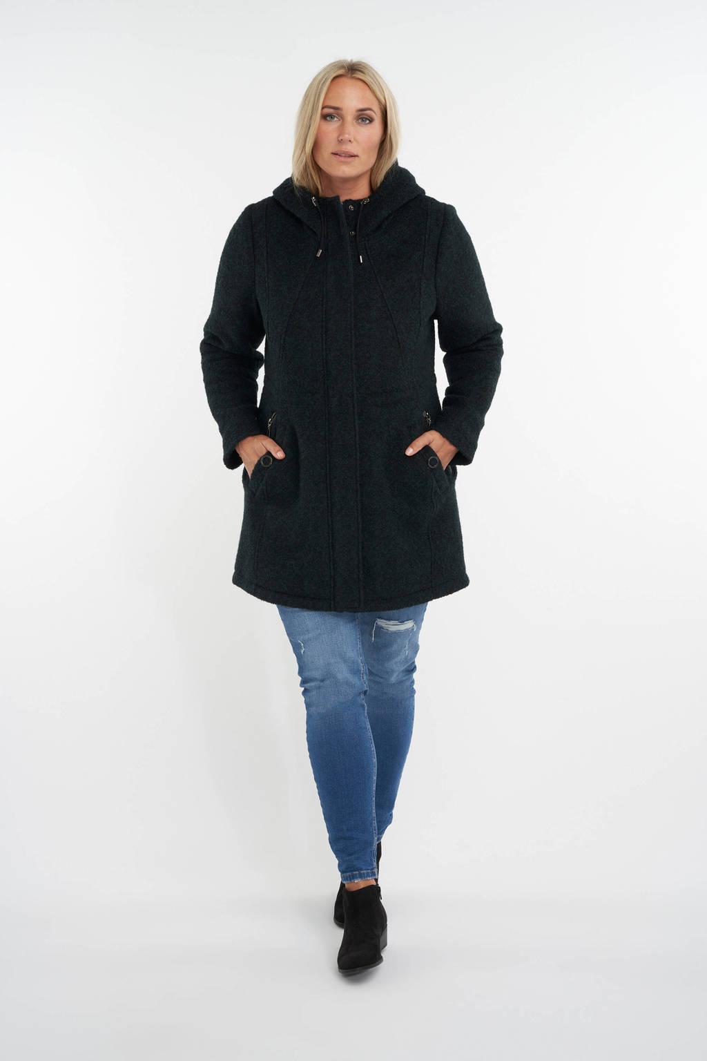 MS Mode gemêleerde jas zwart, Zwart