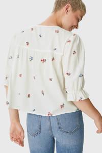 C&A Clockhouse gebloemde blouse wit, Wit