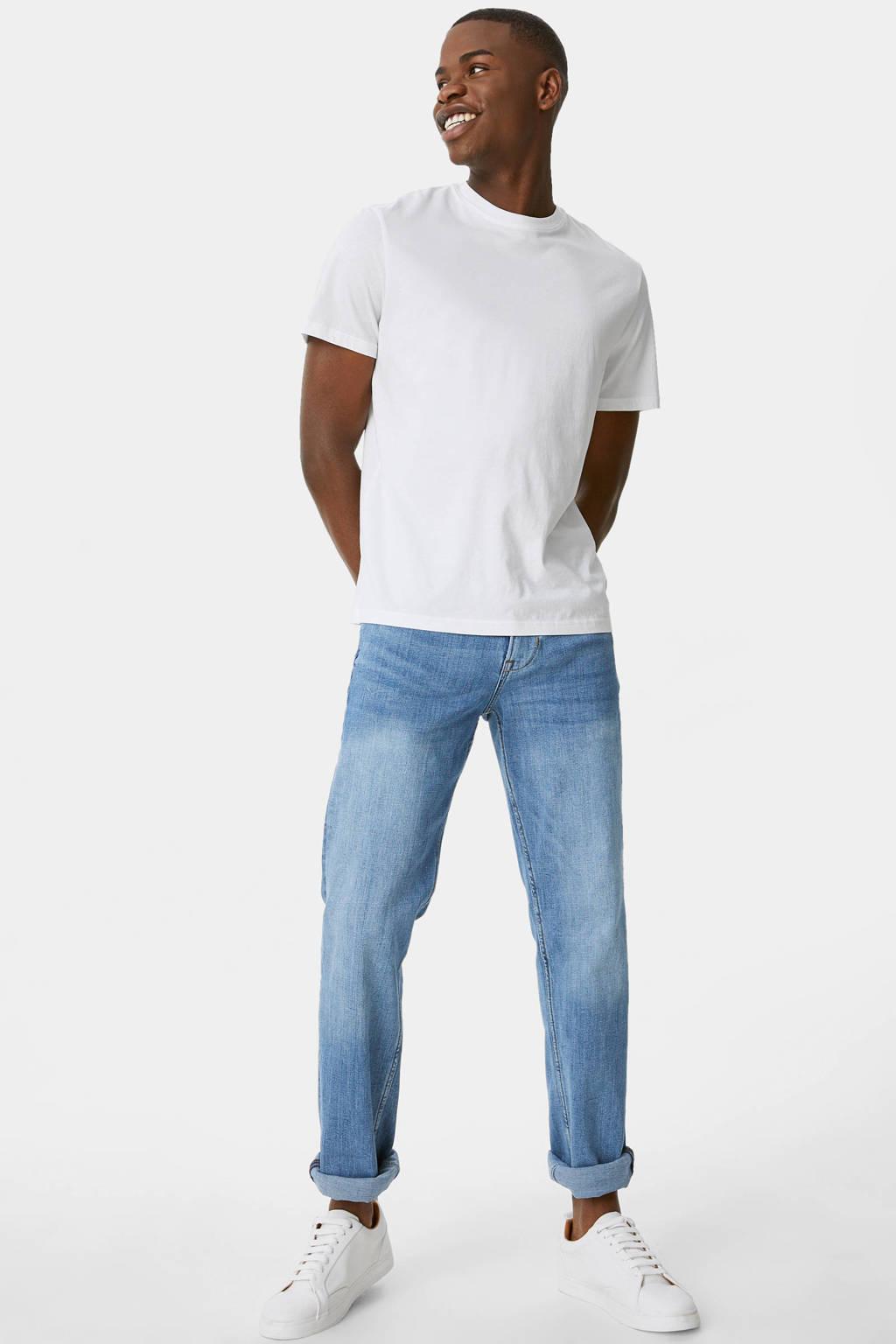 C&A straight fit jeans blauw, Blauw