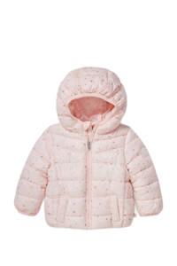 C&A Baby Club gewatteerde winterjas met sterren lichtroze, Lichtroze
