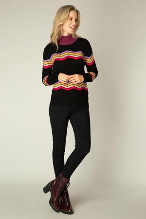 fijngebreide trui Obby Essential zwart/multi
