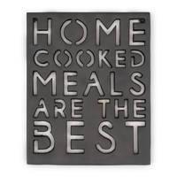 Riviera Maison onderzetter Home Cooked Meals, Zwart