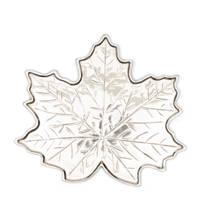 Riviera Maison decoratie schaal Maple Leaf, Zilver