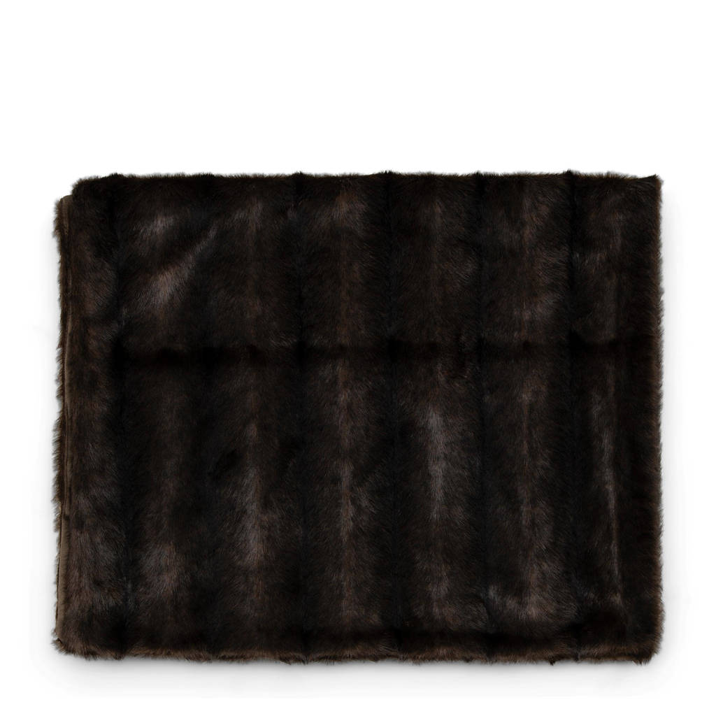 Riviera Maison plaid Vintage Faux Fur, Brown