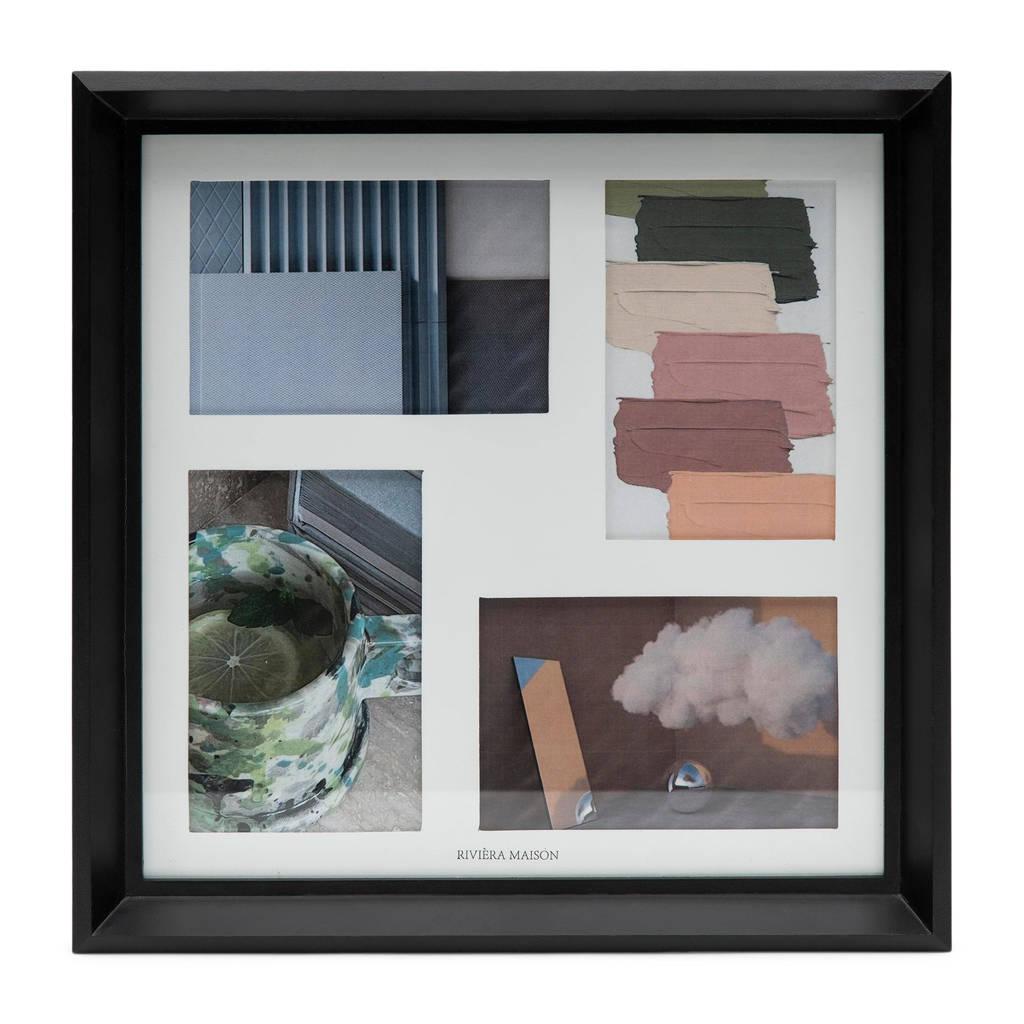 Riviera Maison fotolijst West End Square  (35x22 cm), Zwart