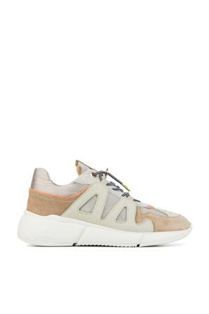 57038 Celina Jace  leren chunky sneakers beige