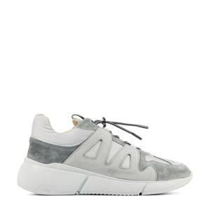 57038 Celina Jace  leren chunky sneakers grijs