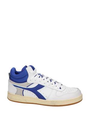 Magic Basket Demi Cu  leren sneakers wit/blauw