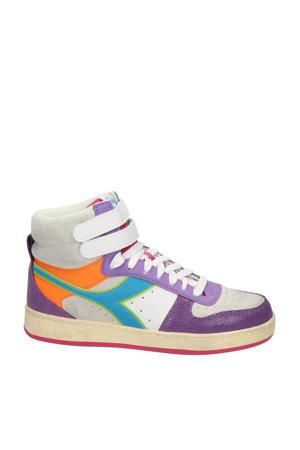 Magic Basket Mid  hoge leren sneakers paars/multi
