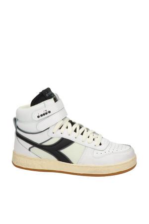Magic Basket Mid Ico  hoge leren sneakers wit/zwart