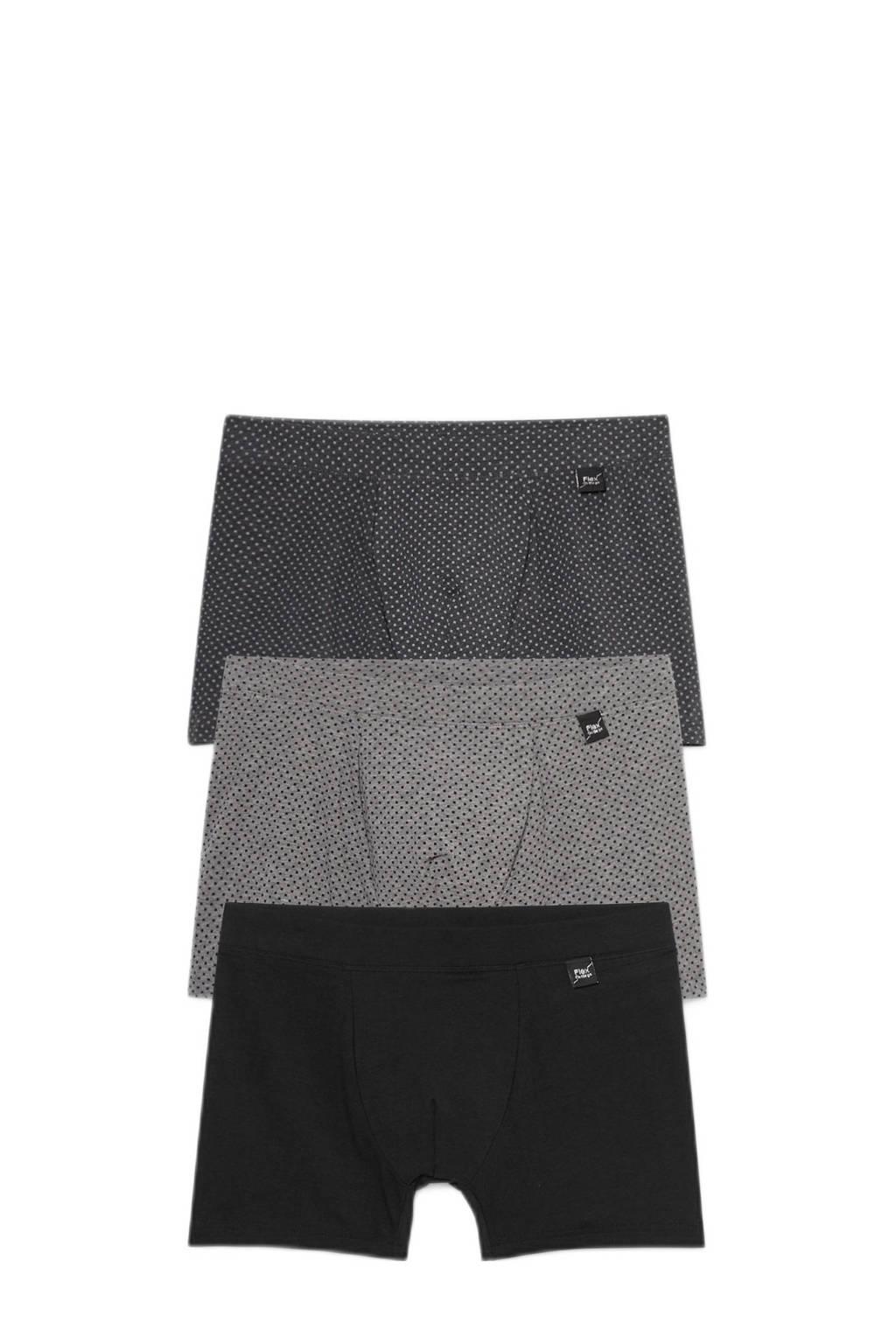 C&A boxershort (set van 3), Zwart/grijs