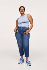 Mango Plus Size straight fit jeans dark denim/changeant blauw