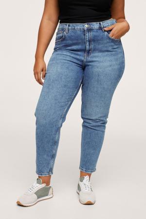 high waist straight fit jeans changeant blauw