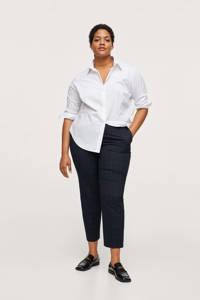 Mango Plus Size geruite straight fit pantalon marine/groen, Marine/groen
