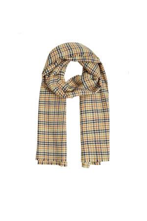 geruite sjaal zwart/geel
