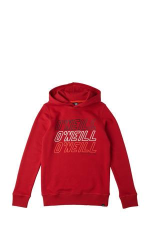 hoodie All Year met printopdruk rood