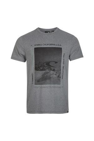 T-shirt Mountain Frame grijs