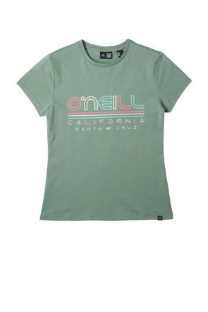 T-shirt All Year met printopdruk lichtgroen