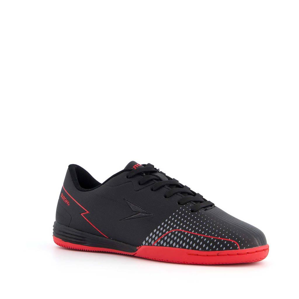 Scapino Dutchy   voetbalschoenen zwart/rood, Zwart/rood