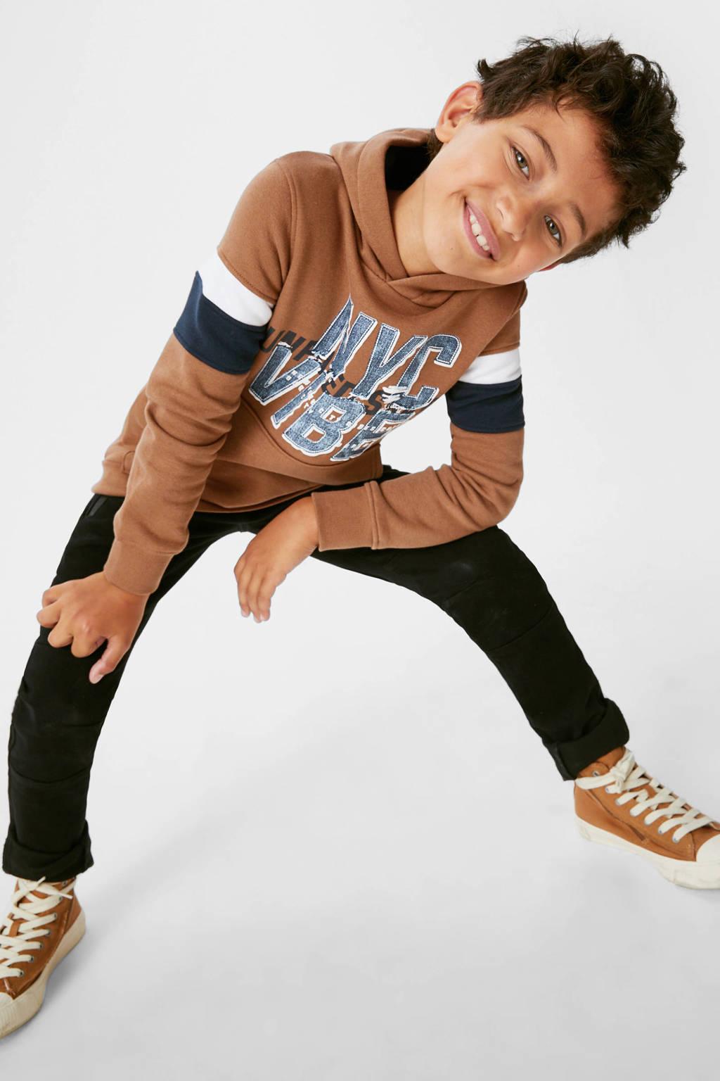 C&A sweater met printopdruk bruin, Bruin
