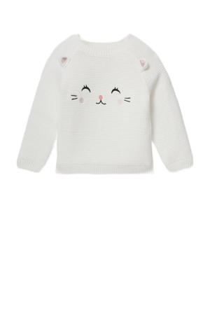 baby trui van biologisch katoen wit