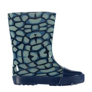 regenlaarzen met dierenprint blauw